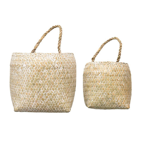 HAND-WOVEN SEAGRASS BASKET LG