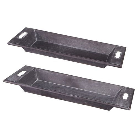 OBLONG IRON TRAY W/HANDLES-SM