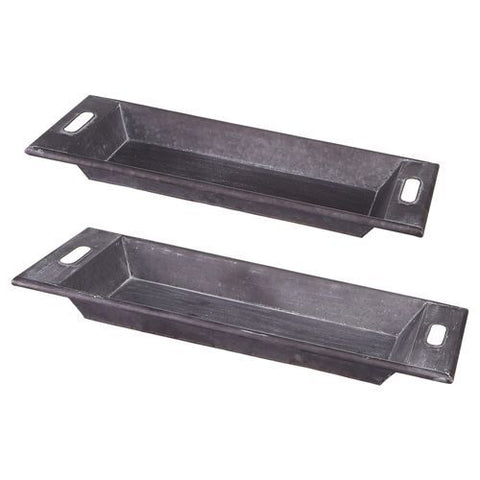 OBLONG IRON TRAY W/HANDLES-LG