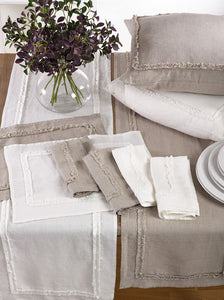 IVORY RUFFLED DESIGN RUNNER