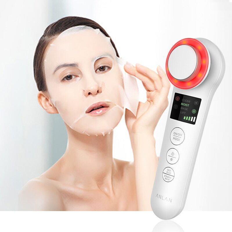 LED anti-wrinkle sonic vibration therapy at hot and cool function!