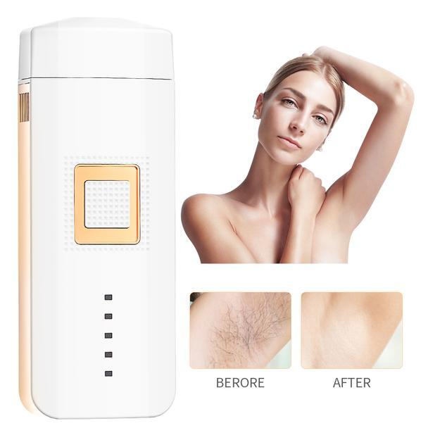Compact laser hair removal to remove hair all over the body at home!