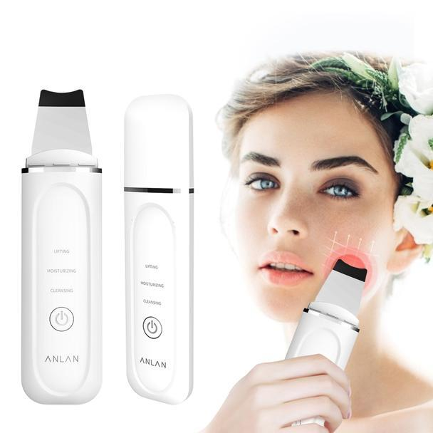 Cleanse, refresh and revitalize your skin with Unique Ultrasonic Heated Skin Scrubber.