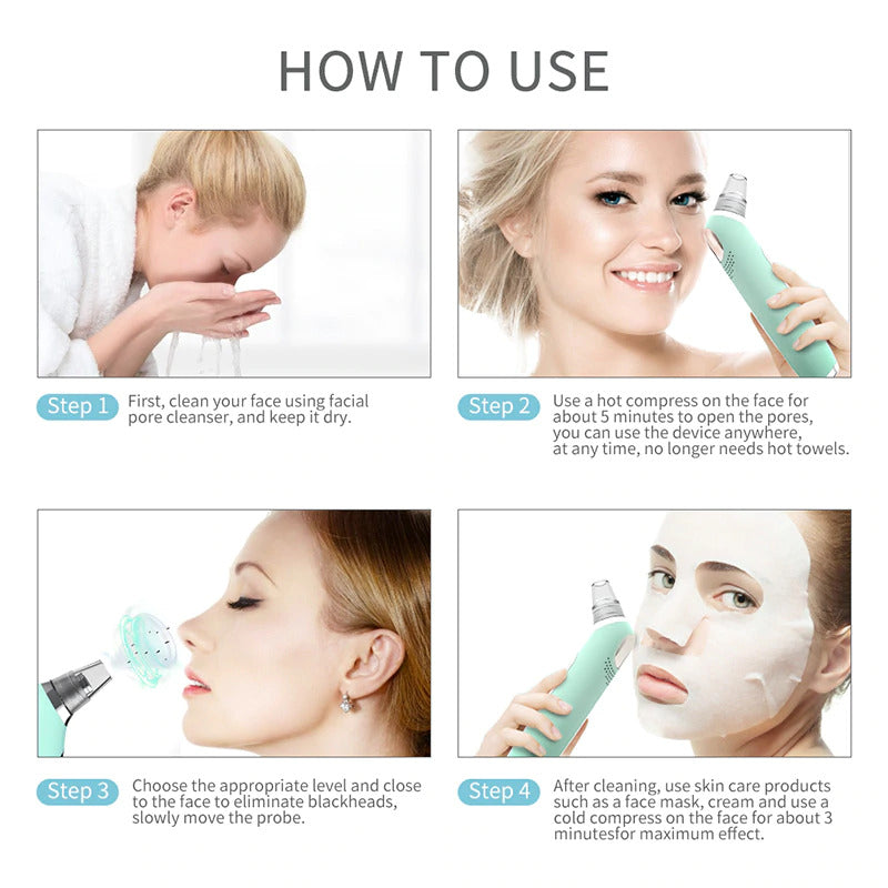 How to use Blackhead Remover device?