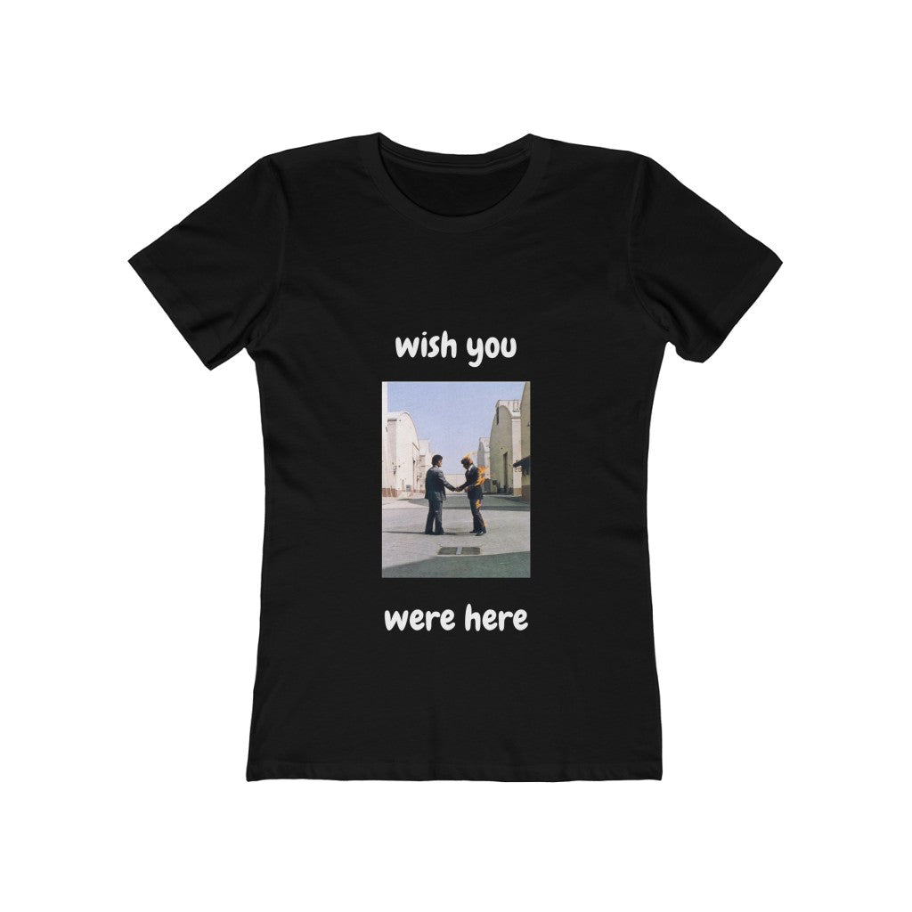 """Wish you were here"" womens cotton tee"
