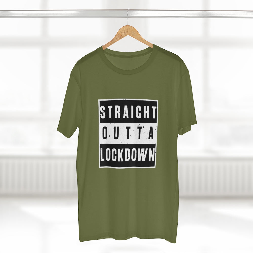 """Straight outta lockdown"" mens AS Color tee"