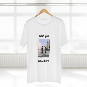 """Wish you were here"" mens AS Color tee"