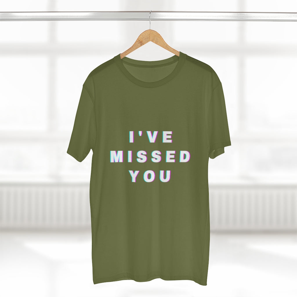 """I miss you"" mens AS Color tee"