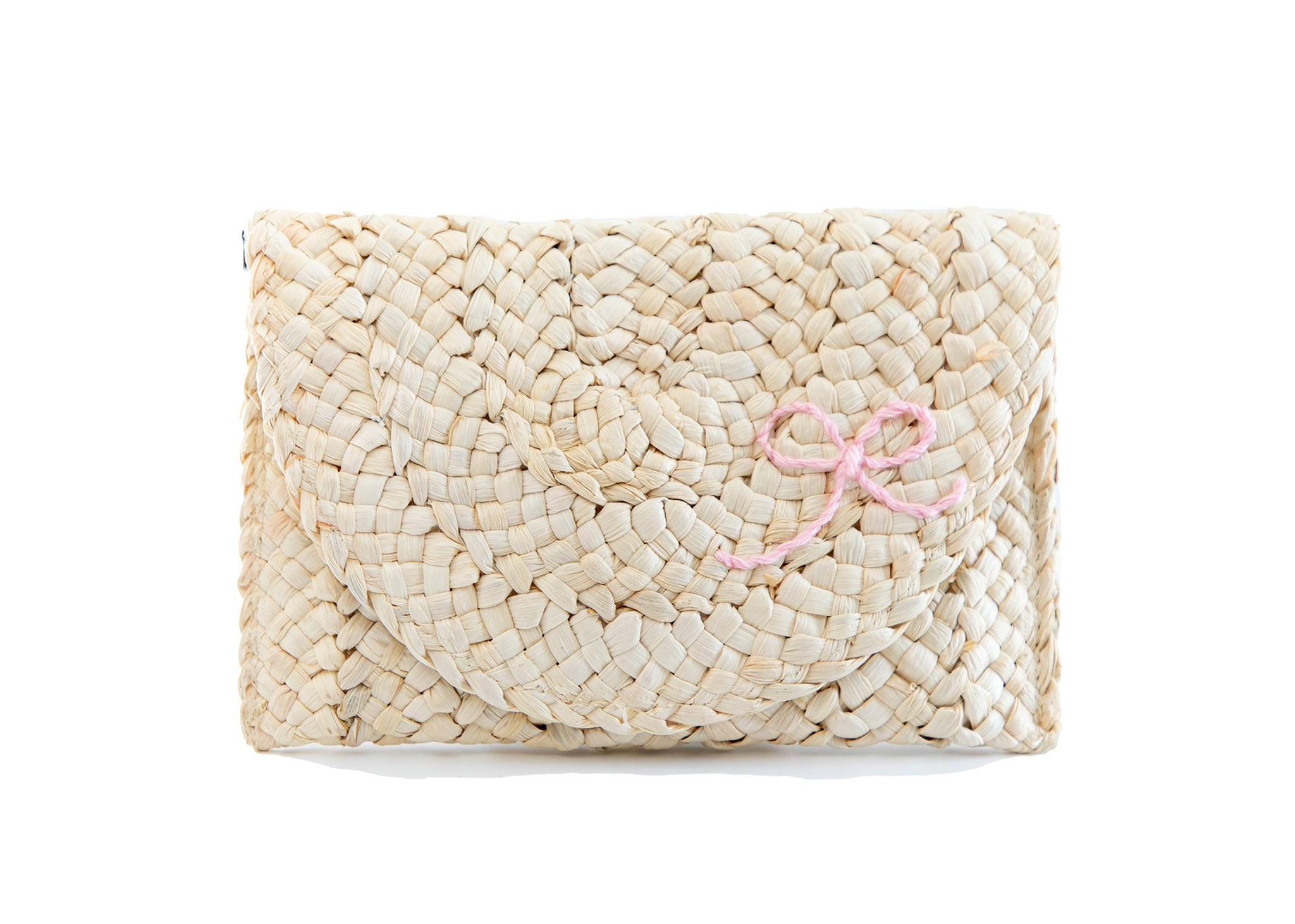 the capri clutch - petite bow - rose