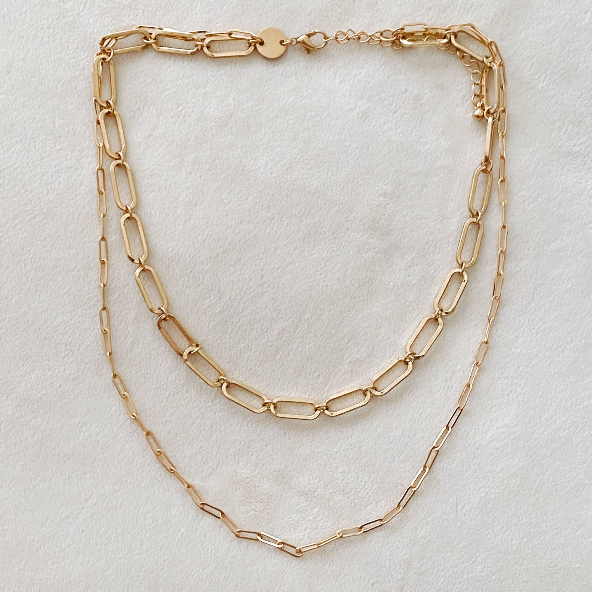 Big & Small Double Chain Link Necklace