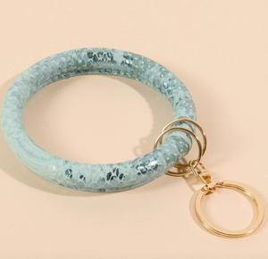 Snake Skin Metallic Key Chain