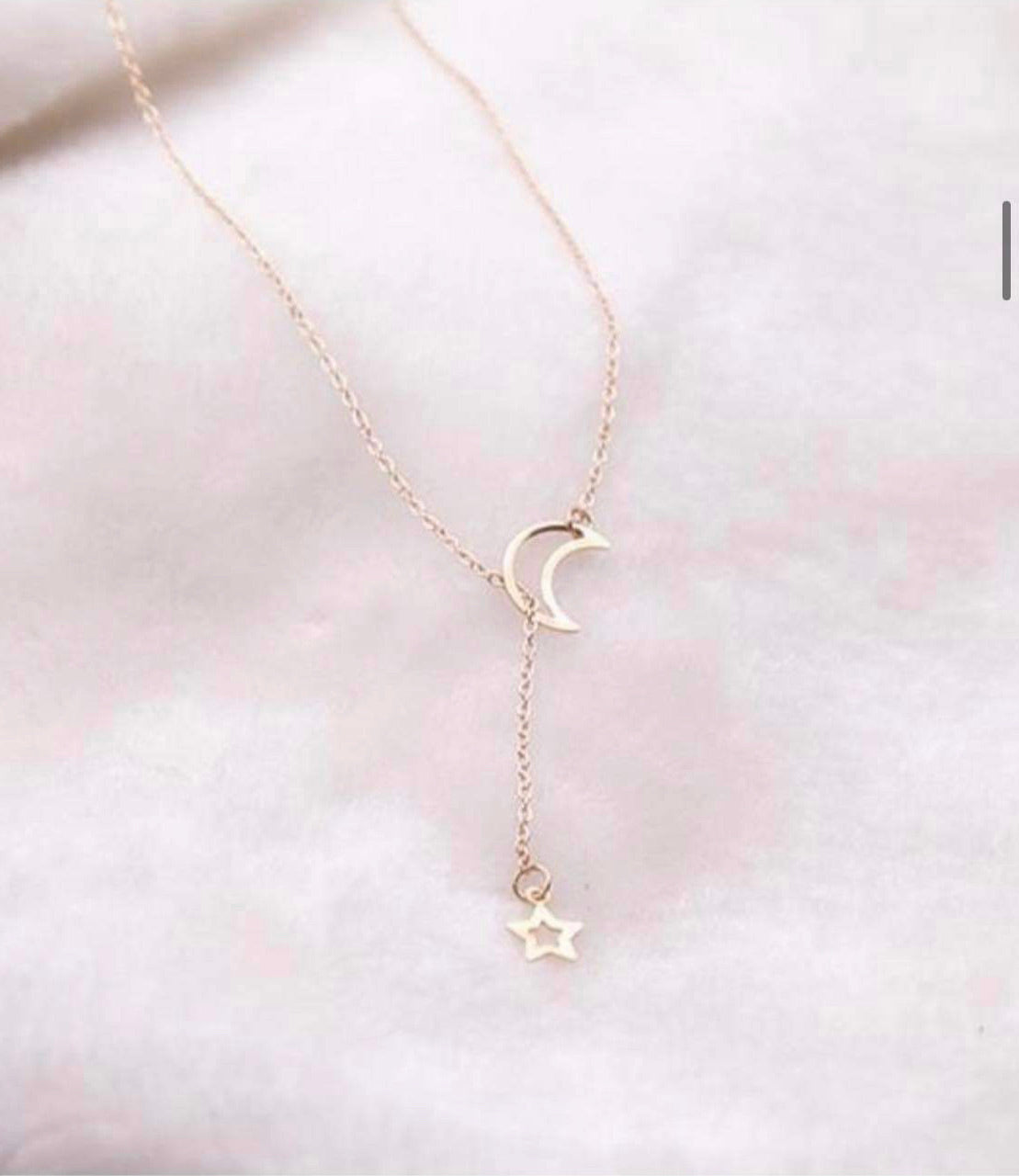 Lariat Moon Necklace