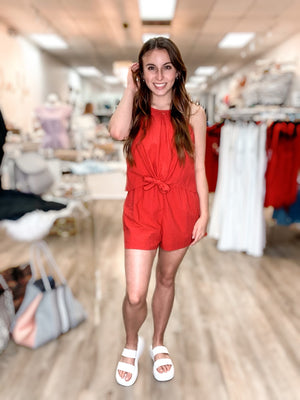 Red Out Romper 12095