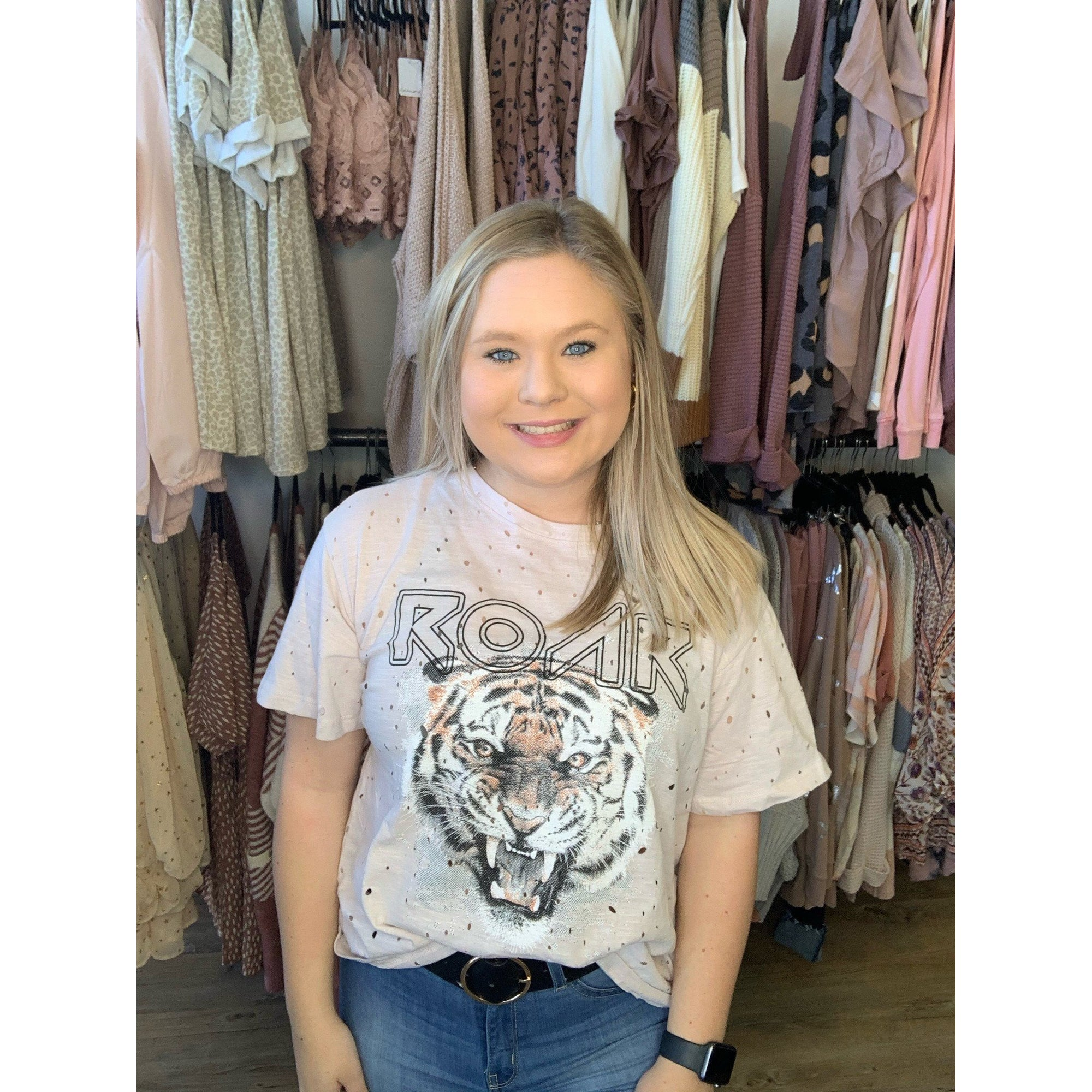 Roar Tiger Graphic Top 1218
