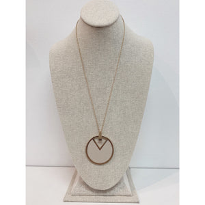 Circle V Long Necklace 2092