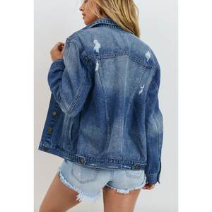 Distressed Denim Jacket 463