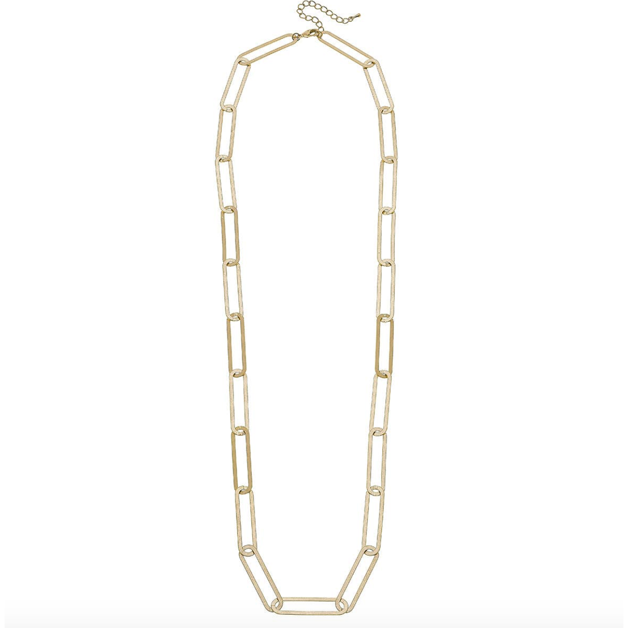 Flat Chain Link Necklace 21909