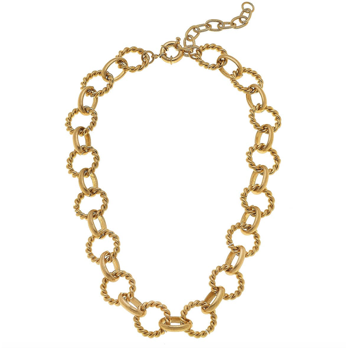 Twist Rings Chain Necklace 21986