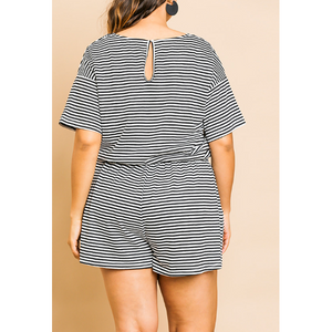 Striped Romper 5486
