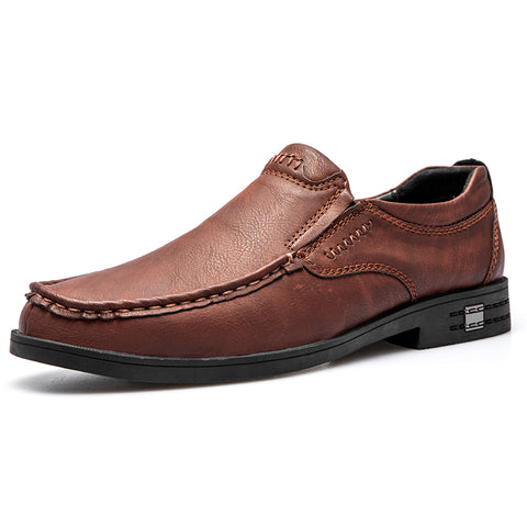 Men All Season Pigskin Leather Formal Shoes
