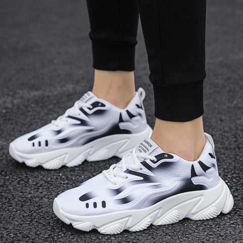 Men Athletic Platform Running Sneakers Cushion Shoes