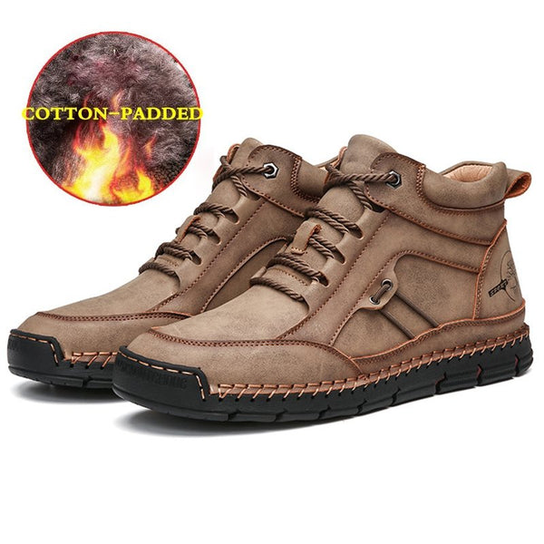 Men Outdoor Comfy Microfiber Leather Ankle Boots