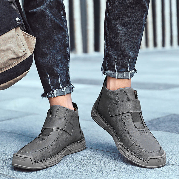 Men Winter Fur Lined Casual Microfiber Leather Boots