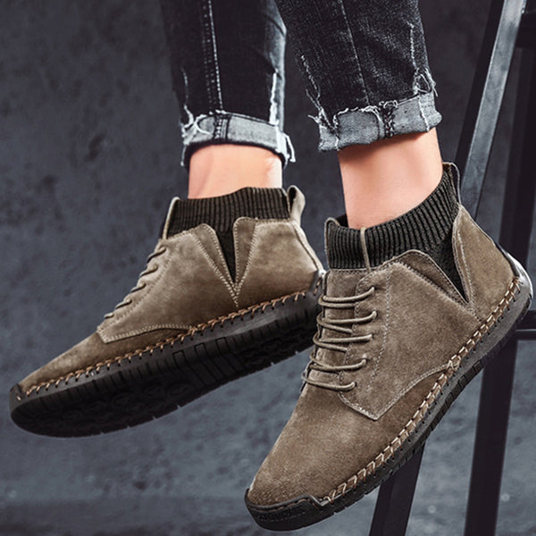 Men's Winter Warm Non-slip Lace Up Casual Ankle Boots