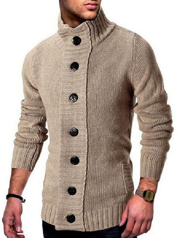 High Neck Knitted Jacket