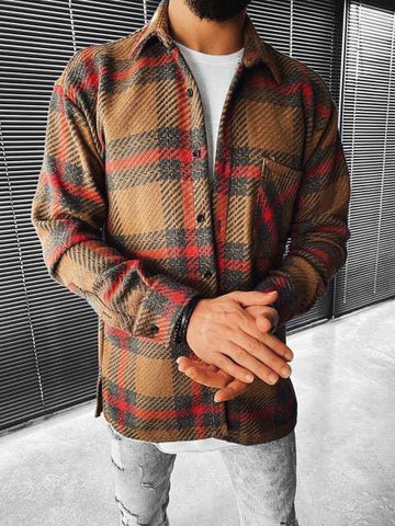 Casual Plaid Long Sleeve Shirt
