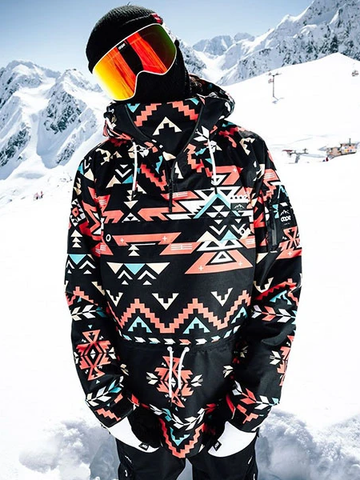 Windproof Leisure Printed Ski Sweater