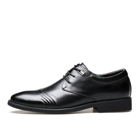 Men Brogue Lace Up Business Formal Causual Shoes