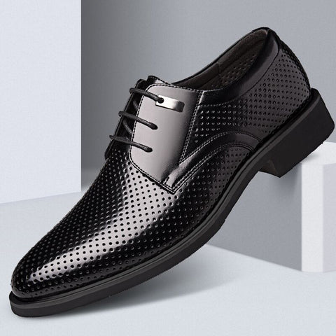 Mens Pointed Toe Hollow Out Business Casual Formal Shoes