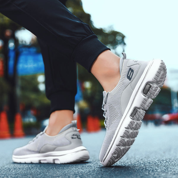Men mesh slip breathable mesh Soft Casual Running Sneakers