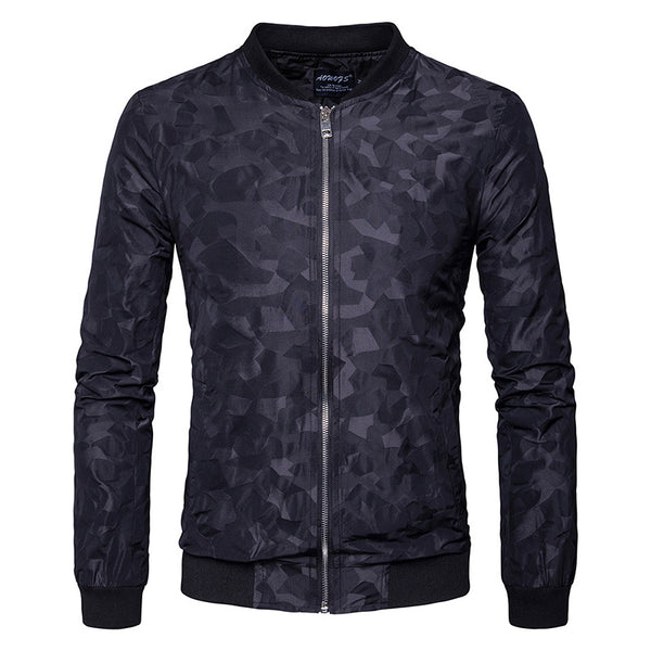 Men's Casual Printed Long Sleeve Bomber Baseball Jackets