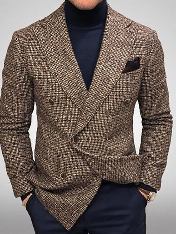 Five Color Plaid Suit Jacket