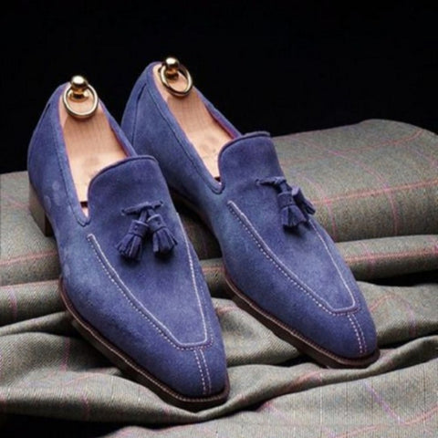Purple Faux Suede Formal Summer Formal Shoes