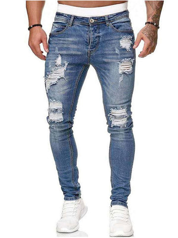 Fashion All-match Casual Ripped Jeans