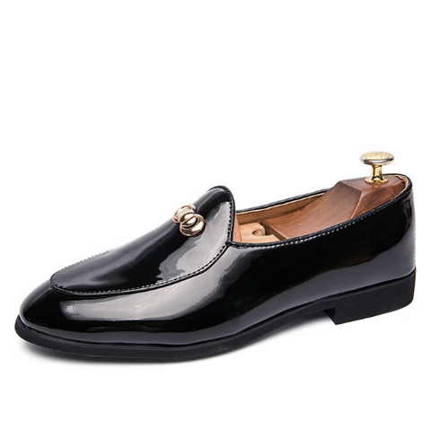 Black Daily Leather Formal Shoes