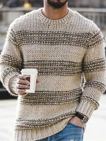 As Picture Vintage Crew Neck Sweater