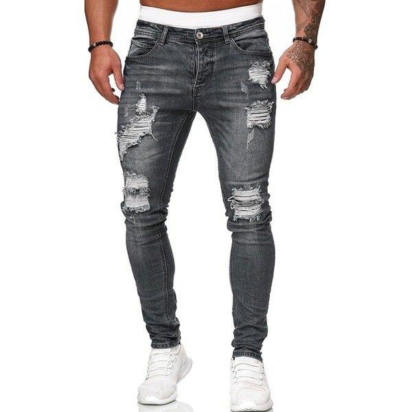 Five-color Ripped Casual Jeans