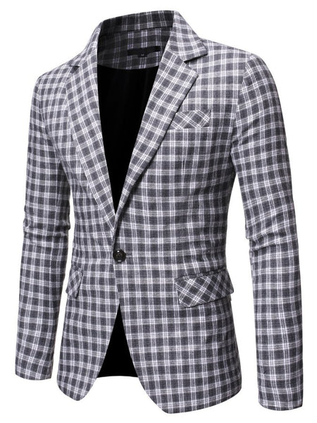 Plaid Printed Cotton Outerwear