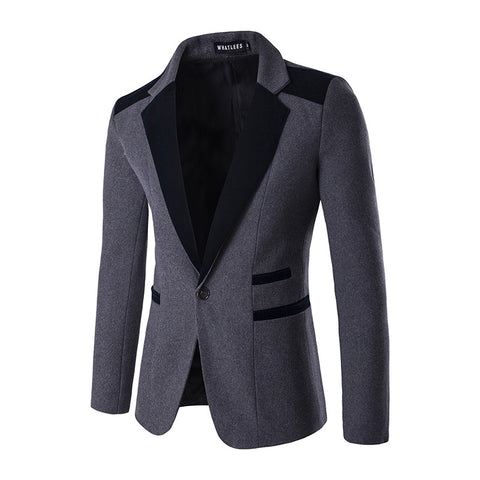 Solid Paneled Lapel Work Blazer