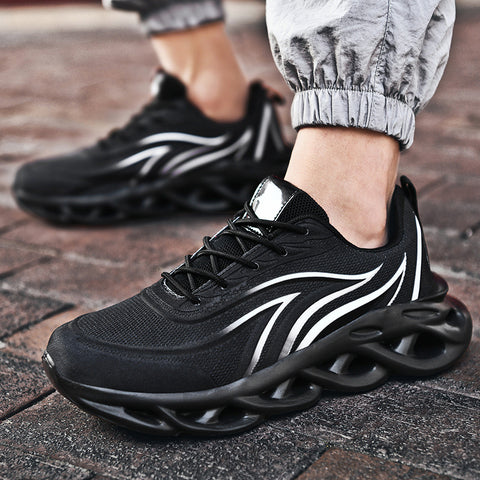Men Breathable Athletic Casual Mesh Fabric Sneakers