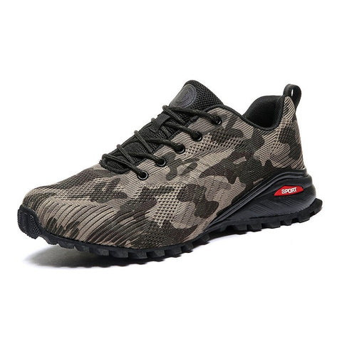 Men Camouflage Knitted Fabric Slip Resistant Outdoor Casual Sneakers