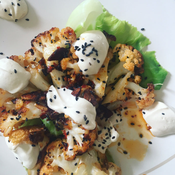 Harissa Roast Cauliflower With Lemon Yoghurt