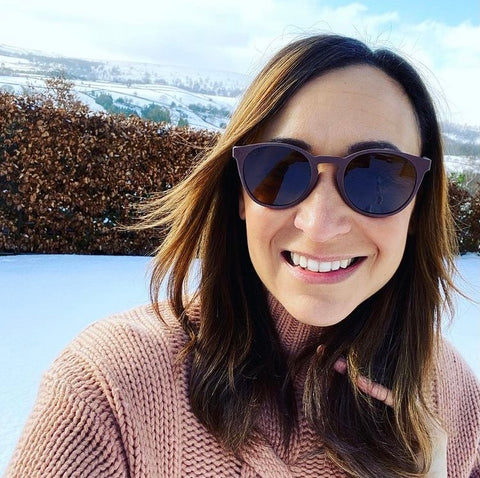 Jessica Ennis-Hill wearing Coral Eyewear Recycled Sunglasses