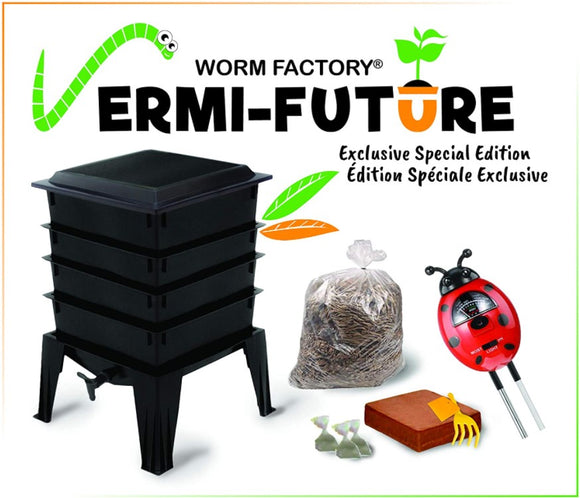 Worm Factory special exclusive VERMI-FUTURE edition with 4 trays (33% off on worms)