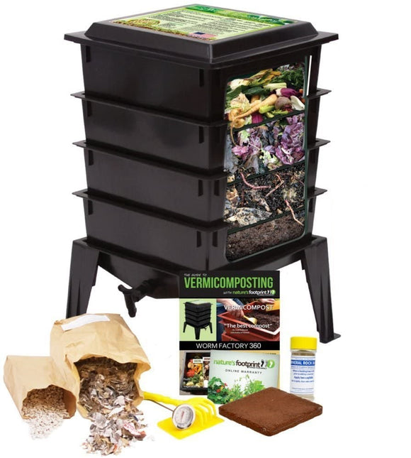 BEST SELLER - Worm Factory 360 including 4 trays (33% off on worms)