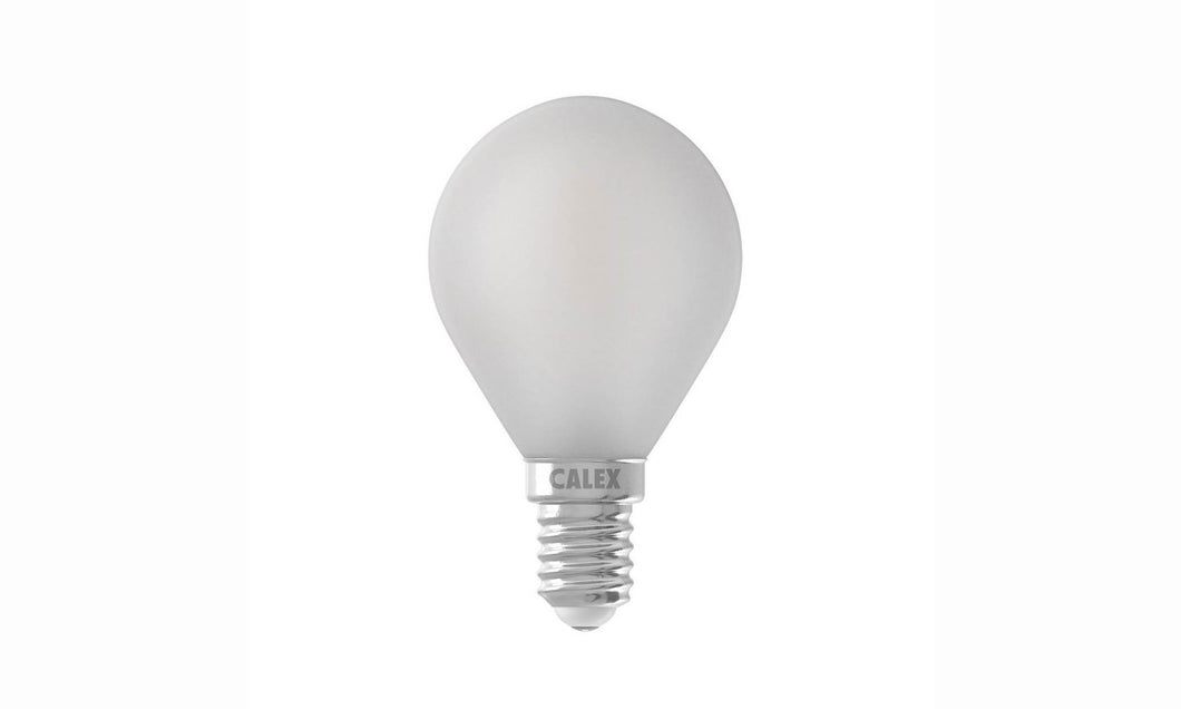 Frosted serie: LED Filament Kogellamp 3.5W E14